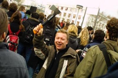 Demonstration für eine sachgemäße Studiengebührenverwendung